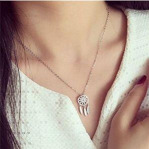 Jewelry - Boho Dream Catcher Necklace in Silver Tone